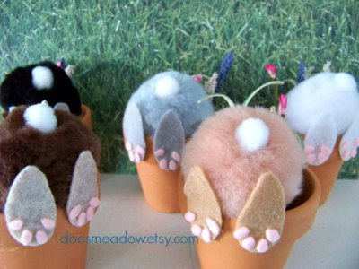 Easter Bunny Pots
