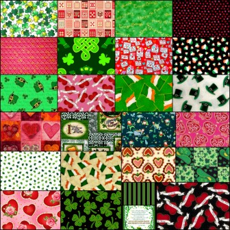 Valentine's Day and St Patrick's Day Fabric Sale
