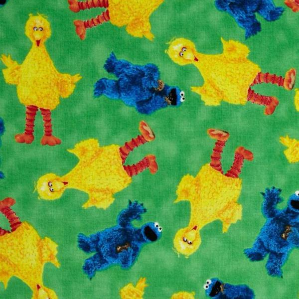 Cotton fabric character fabric sesame street big bird for Monster themed fabric