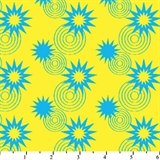 Picture of DC Comics Superhero Stars Circles Blue Yellow Cotton Fabric