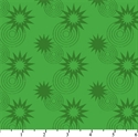 Picture of DC Comics Superhero Stars Circles Green Cotton Fabric