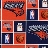 Picture of NBA Basketball Charlotte Bobcats Cotton Fabric