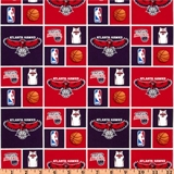 Picture of NBA Basketball Atlanta Hawks Cotton Fabric