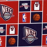 Picture of NBA Basketball New Jersey Nets Cotton Fabric