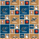 Picture of NBA Basketball Washington Wizards Cotton Fabric
