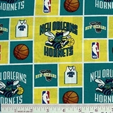 Picture of NBA Basketball New Orleans Hornets Cotton Fabric