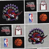 Picture of NBA Basketball Toronto Raptors Cotton Fabric