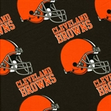 Picture of Flannel NFL Football Cleveland Browns Cotton Fabric