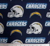 Picture of NFL Football San Diego Chargers 18x29 Cotton Fabric