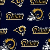 Picture of NFL Football Saint Louis Rams on Blue 18x29 Cotton Fabric