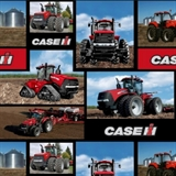 Picture of Case Construction Evolution Tractor Squares Cotton Fabric