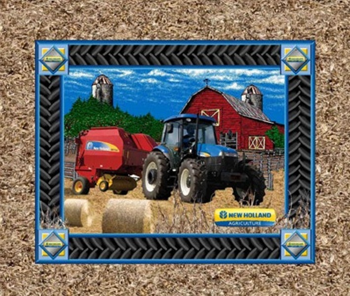 New Holland Tractor Fabric : Blue ford tractor fabric