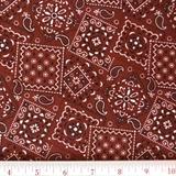 Picture of Blazin Bandanas Rust Bandana Pattern Cotton Fabric