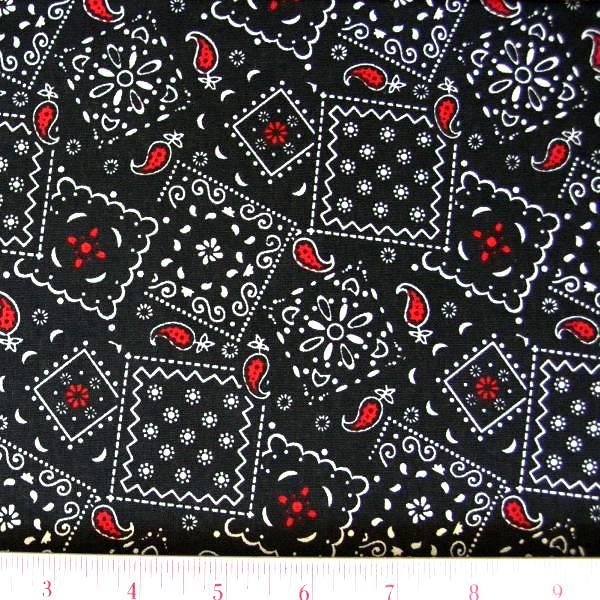 Fabrics / Pattern Fabrics / Bandana - Flame Fabrics / Blazin Bandanas ...