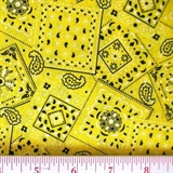 Picture of Blazin Bandanas Yellow Bandana Pattern Cotton Fabric