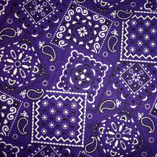... Bandana - Flame Fabrics / Blazin Bandanas Purple Bandana Pattern