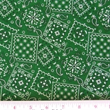 Picture of Blazin Bandanas Green Bandana Pattern Cotton Fabric