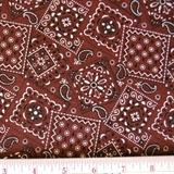 Picture of Blazin Bandanas Brown Bandana Pattern Cotton Fabric