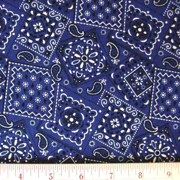 Blue Bandana Pattern Deep blue bandana pattern