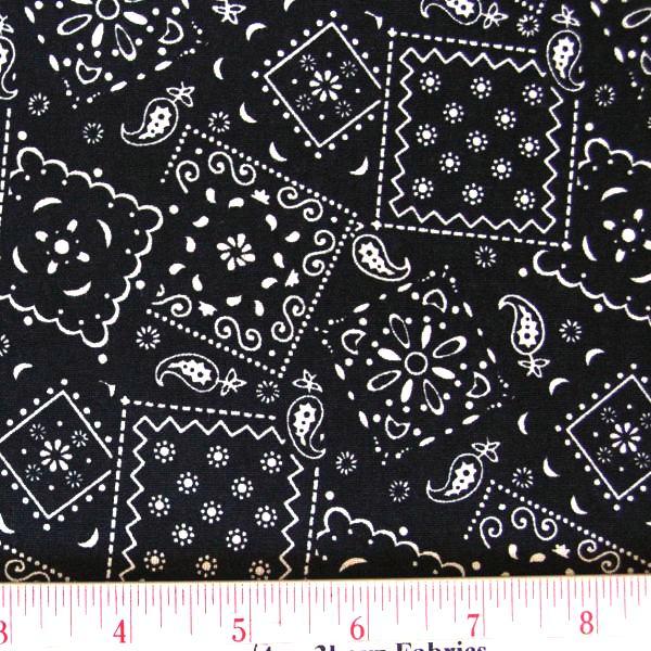 Bandana Pattern Black bandana pattern