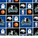 Picture of NBA Basketball Minnesota Timberwolves Cotton Fabric
