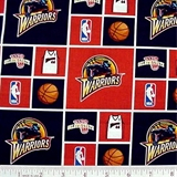 Picture of NBA Basketball Golden State Warriors Cotton Fabric