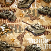 Picture of Tanks US Legend 28th Armored Assault Camouflage Cotton Fabric