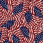 Picture of Patriotic Flags American Swirling Flag Collage Cotton Fabric