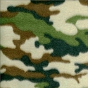 Picture of Army Camouflage Pattern Half Yard Fleece Fabric