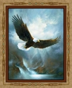 Picture of All He Surveys Bald Eagles in Flight Large Cotton Fabric Panel