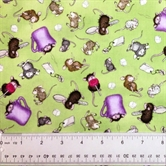 Picture of Kitchen Helpers House Mouse Mice Teabags Cups Cotton Fabric
