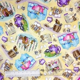 Picture of Kitchen Helpers House Mouse Mice Kitchen Play Cotton Fabric