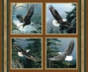 Picture of All He Surveys Bald Eagles in Flight Cotton Fabric Pillow Panel Set