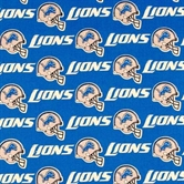 Picture of NFL Football Detroit Lions 18x29 Cotton Fabric