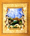 Picture of Amazing Grace Jesus and Angels Religious Large Cotton Fabric Panel