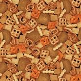 Picture of Got Munchies Snack Mix Pretzels Chex Cotton Fabric