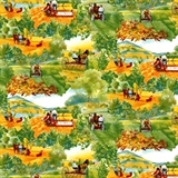 Picture of Days Gone By International Harvester Country Farming Cotton Fabric