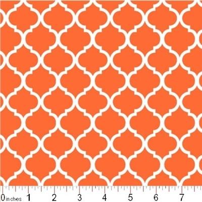 Cotton Fabric Pattern Fabric Mini Quatrefoil Lattice