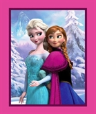 Picture of Disney Frozen Snowy Scenic Sisters Large Cotton Fabric Panel