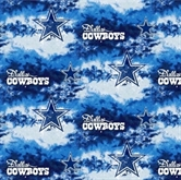 Picture of NFL Football Dallas Cowboys Stars on Clouds 18x29 Cotton Fabric