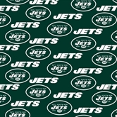 Picture of NFL Football New York Jets on Green 18x29 Cotton Fabric