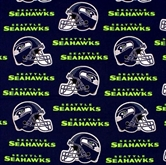 Picture of NFL Football Seattle Seahawks Neon Green Words 18x29 Cotton Fabric