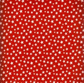 Picture of Made in the U.S.A. Patriotic White Stars on Red Cotton Fabric