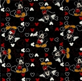 Picture of Disney Mickey and Icons Mickey Mouse Toss on Black Cotton Fabric
