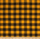 Picture of Flannel Mad about Plaids Yellow and Black Plaid Cotton Fabric