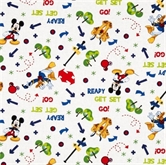 Picture of Disney Mickey and Pluto Tree Toss Donald Duck Play Cotton Fabric
