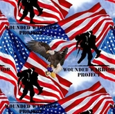 Picture of Wounded Warrior Project Military Soldiers Flags Eagles Cotton Fabric