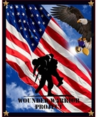 Picture of Wounded Warrior Project Patriotic Military Large Cotton Fabric Panel