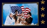 Picture of American Heroes Military Soldiers 12x22 Cotton Fabric Pillow Panel