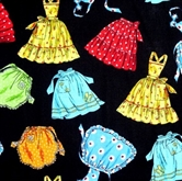 Picture of Simplicity Aprons Colorful Kitchen Aprons on Black Cotton Fabric